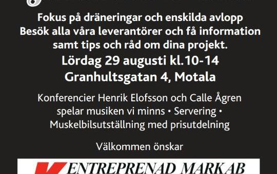Jubileumsmässa lörd. 29/8 10-14